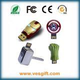 Movimentação Pendrive do USB da mão do casco do homem do ferro da forma da forma