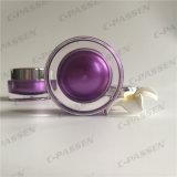 化粧品の包装のための銀製の帽子が付いている30g紫色のアクリルのクリーム色の瓶(PPC-ACJ-101)