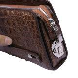 Pochette de luxe de course d'affaires de crocodile de cuir véritable de sac d'embrayage d'hommes
