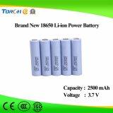 Preço 3.7V original da capacidade total da bateria do Li-íon 18650 do fabricante 2500mAh bom