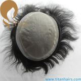 Toupee do cabelo humano do Virgin mono e Toupee do plutônio para homens