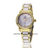 Wristwatch повелительниц нержавеющей стали кварца диаманта способа