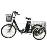 """250W 24 """"電気3つの車輪のバイクのEECの承認の年長者のための大人の大きい三輪車のリチウム電池"""