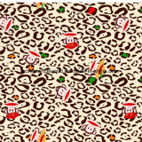 Mund-Fallhammer Pigment&Disperse des Leopard-100%Polyester druckte Gewebe für Bettwäsche-Set