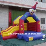 膨脹可能な道化師の城の跳躍の城の巨大な道化師の警備員のスライドモデル