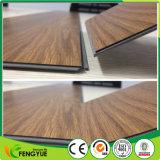 Деревянный Textured коммерчески крытый слипчивый пол PVC винила Lvt Click