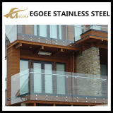 Balustrades en verre Tempered de balustre d'acier inoxydable