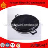 Vaschetta del acciaio al carbonio del Cookware dello smalto per la frittura/Baking/BBQ