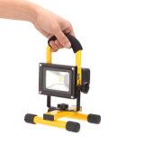 De Portable lumière solaire de travail d'inondation de Rechargeble DEL d'ÉPI de l'éclat 10W ultra, lampe campante rechargeable sans fil résistante de l'eau