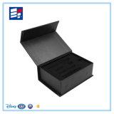 Schwarzer Papierbuch-vorbildlicher verpackenluxuxkasten für Elektronik