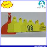 Plastic Livestock Ear Tag met gele kleur
