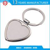 Metallo in bianco su ordinazione Keychain di figura del cuore di promozione