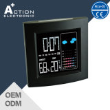 Bunter Wetterstation-Taktgeber Digital-LCD quadratischer mit Kalender