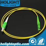 Кабель Sca заплаты оптического волокна к желтому цвету E2000A симплексному Sm