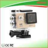 A melhor câmera do esporte do preço 4k mini WiFi com o cartão de 64G TF