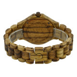 Customzied 로고 나무로 되는 걸쇠 표범 패턴 샌들 목제 시계