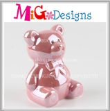Atacado Cute Pink Pig Ceramic Piggy Bank Home Decor