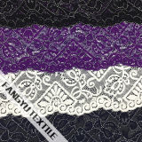 Tela intricada do laço do algodão do projeto do teste padrão