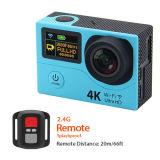 H3 doble pantalla de acción de la cámara 4k deporte de viaje cámara impermeable DV DVR 170d lente