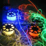 Lumière 2016 de décoration de festival de lumière de corde de la lumière DEL de corde ronde de DEL