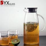 cristalleria del Borosilicate di Caldo-Vendita 1.8L/creatore di tè freddo di vetro di Brew/brocca di acqua di vetro libera con la maniglia ed il coperchio laterali per le bevande di freddo/brocca di vetro dell'acqua