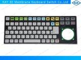 Tipo liso controle inoperante do teclado de membrana do indicador dianteiro para o forno de micrôonda do Ge
