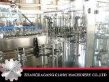 유리병에 있는 탄산 음료 충전물 기계
