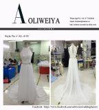 Reale Hochzeits-Kleider des Aoliweiya Sprung-2017 mit Schlüsselloch-Rückseite