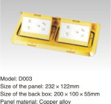 Schioccare in su il contenitore elettrico di zoccolo di potere del pavimento della lega del bottaio di 232*122mm