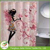 Stampe d'arte Tenda di doccia in bianco e nero in poliestere di lusso