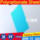 feuille jumelle claire de polycarbonate de cavité de mur de 10mm