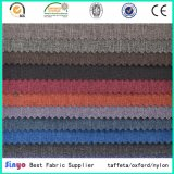 Negro PVC recubierto de nylon Jacquard 300d cationes DTY Llanura duotono Oxford tela para hacer Sofá / Bolsas