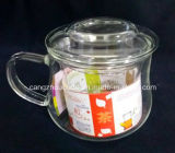 Copo de chá de vidro da parede dobro original com a caixa de empacotamento da caixa