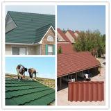 Mattonelle metal-ceramiche rivestite rosse dell'obbligazione del tetto per materiale da costruzione