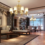 거실을%s 현대 금관 악기 샹들리에 펀던트 램프