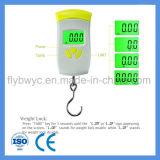 Elektronische PostfischenTraval Schuppen mit maximalen 110lb 50kg Digital hängenden Gepäck-Schuppen des Gewicht-Verschluss-