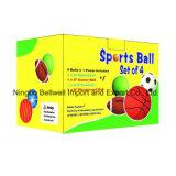 OEM de Reeks van het Embleem van 4 Ballen van het Stuk speelgoed van pvc van Sporten