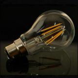 A60 lampadina economizzatrice d'energia del filamento dell'indicatore luminoso 4W 6W 8W B22 E27 LED