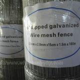 ヒツジおよびヤギのための熱い浸された電流を通された1.5mのヒンジ接合箇所の編まれた野外線の網の塀