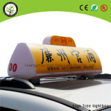 Muestra superior de la casilla/rectángulo ligero del taxi de la muestra al aire libre de la tapa