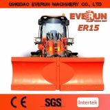 Everun 2017 Er15 Cargadora de ruedas compacta Mini Cargadora frontal