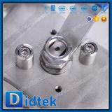 Vávula de bola funcionada palanca de la oblea del acero inoxidable 304 de Didtek
