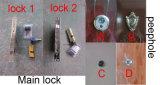 Disegno principale indiano del portello esterno dell'acciaio di obbligazione del portello del metallo
