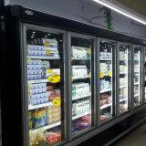 Refrigeradores y congeladores de cristal de Multideck del supermercado de la puerta del compresor alejado en existencias