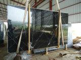 Lastra di marmo nera della Cina Nero Marquina grande per materiale da costruzione