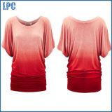 Personalizzare la maglietta del cotone di modo lavata alta qualità