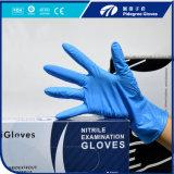 Hochwertiges Wegwerfpuder-freier blaues Schwarzes Wihte purpurroter Nitril-Handschuh