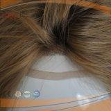 Blondes Spitze-Vorderseite-Menschenhaar-Silk Spitzenhaar-Stück