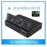 O decodificador satélite Zgemma H5.2s do H. 265/Hevc Receiver& Dual afinadores gêmeos do ósmio Enigma2 DVB-S2+S2 do linux do núcleo
