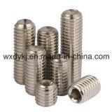 中国DIN 916からのコップポイントハードウェアの工場が付いているステンレス鋼の締める物の六角形のソケットの止めねじ